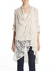 Saks Fifth Avenue Lace Cardigan Beige