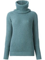 Antonia Zander High Neck Jumper Blue