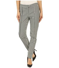 Adrianna Papell Gingham Jacquard Pants Ivory Black Women's Casual Pants Multi
