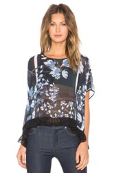 Clover Canyon Fall Leaves Top Black