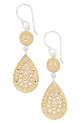 Anna Beck Women's 'Open Metal' Double Drop Earrings