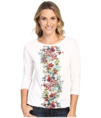 Tommy Bahama Watercolor Columns Long Sleeve Tee Bright White Women's T Shirt