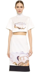Karla Spetic Square Skivvy Tee Pearl Oyster Print