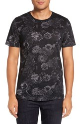 Ted Baker Men's Big And Tall London Trim Fit Floral Print T Shirt Charcoal
