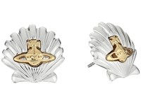 Vivienne Westwood Shell Earrings Rhodium Gold Earring