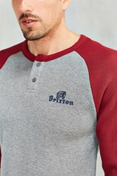 Brixton Tanka Thermal Henley Tee Grey