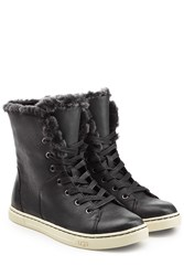 Ugg Australia Shearling Lined Leather High Tops Black