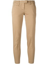Dondup Cropped Trousers Nude And Neutrals