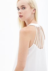 Forever 21 Sheer Cutout Back Halter Top