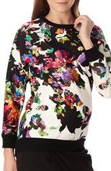 Pietro Brunelli Women's 'Ocean' Floral Print Quilted Maternity Sweatshirt Multicolor