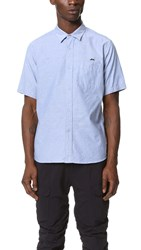 White Mountaineering Oxford Half Sleeves Shirt Blue