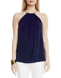 Vince Camuto Hardware Halter Top Navy