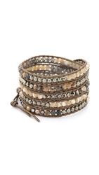 Chan Luu Ombre Beaded Wrap Bracelet Abalone Mix