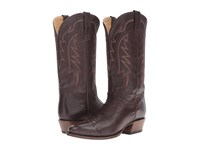 Stetson Ficcini All Over Dark Brown Cowboy Boots