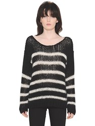 Saint Laurent Striped Wool And Mohair Sweater