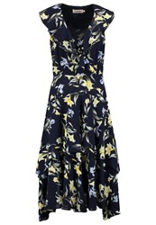 Louche Swoosie Summer Dress Navy Multicoloured