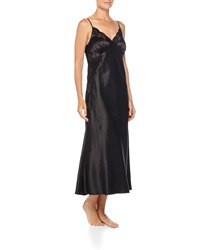 Neiman Marcus Lace Trimmed Silk Long Nightgown