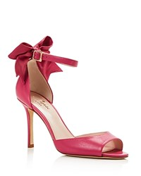 Kate Spade New York Izzie High Heel Ankle Strap Bow Pumps Carousel Pink