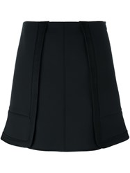 Alexander Wang High Low Ruffle Skirt Black