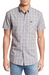 Brixton Men's 'Howl' Short Sleeve Plaid Woven Shirt