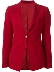 Tagliatore Slim Fit Blazer Red