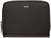 Black Leather Compact Wallet