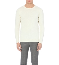 John Smedley Crew Neck Merino Wool And Cashmere Jumper Winter White