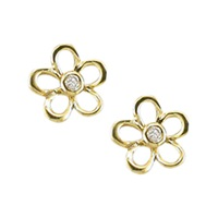 Ewa Diamond Buttercup Stud Earrings