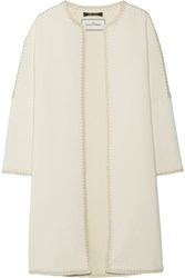 By Malene Birger Azzica Macrame Trimmed Cady Coat White
