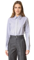 Carven Long Sleeve Blouse Gris Clair