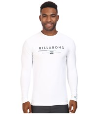 Billabong Tri Unity Long Sleeve Rashguard White Men's Swimwear