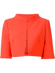 Alberta Ferretti Cropped Jacket Red