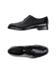 Sergio Rossi Footwear Lace Up Shoes Men Black