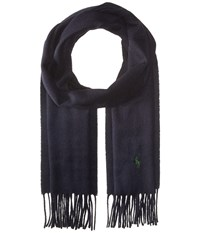 Polo Ralph Lauren Signature Cashmere Scarf Hunter Navy Scarves Black