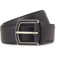 Loro Piana 4Cm Midnight Blue Leather Belt Midnight Blue