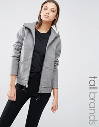 Noisy May Tall Long Sleeve Hooded Jacket Grey