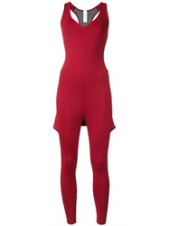 Sapopa Fitted Jumpsuit Red