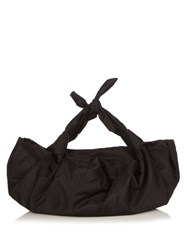 The Row Ascot Nylon Tote Black