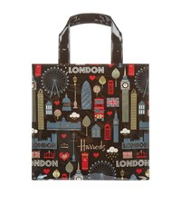Harrods Glitter London Small Gusset Bag Unisex