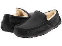 Ugg Ascot Leather Black Leather Men's Slippers