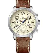 Tommy Hilfiger 1791230 Stainless Steel And Leather Watch Cream