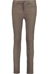 Current Elliott The Ankle Leather Skinny Pants Nude
