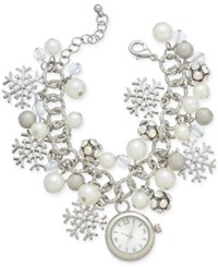 Charter Club Silver Tone Charm Bracelet Watch 22Mm Only At Macy's