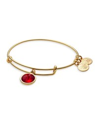 Alex And Ani July Birth Month Charm Bangle Red