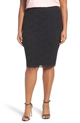 Vince Camuto Plus Size Women's Scallop Lace Pencil Skirt