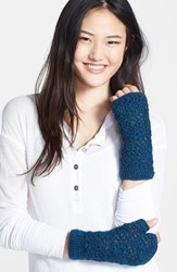 Women's Nirvanna Designs Crochet Handwarmers Blue Teal