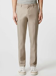 Topman Stone Skinny Fit Suit Trousers Brown