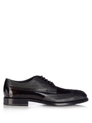 Tod's Bucatura Leather Brogues Black