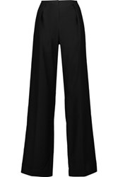 Nina Ricci Wool And Mohair Blend Wide Leg Pants Black