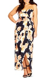 Plus Size Women's City Chic 'Tulip Time' Floral Print Maxi Dress